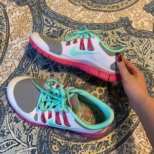 Custom Nike ID free runner tennis shoes